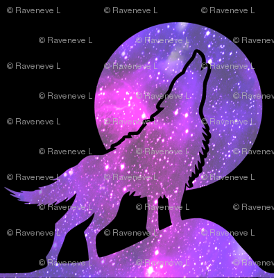 3 glitter sparkles stars universe galaxy cosmic cosmos planets nebula watercolor effect wolf wolves dogs howling moon animals silhouette purple blue violet