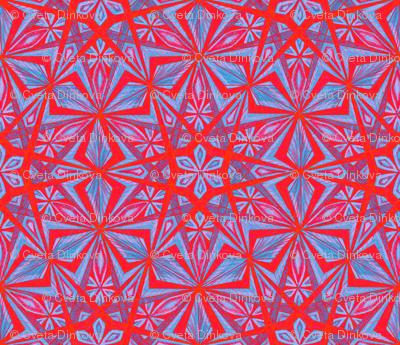 Diamond Star Blue Red