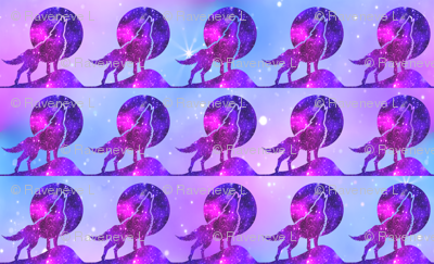 2 glitter sparkles stars universe galaxy cosmic cosmos planets nebula watercolor effect wolf wolves dogs howling moon animals silhouette purple blue violet