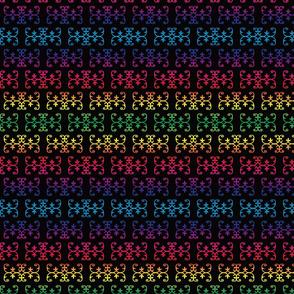 DoubleCurve-Mi_kmaq-RainbowonBlack