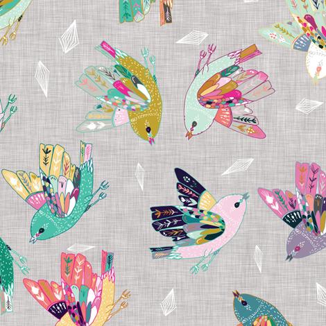 Joy flight (linen) RAILROAD fabric by nouveau_bohemian on Spoonflower - custom fabric