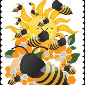 Sunny Day Bees Rectangles