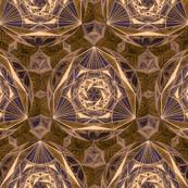 Sacred Geometry Pattern Fabric Brown