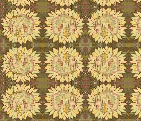 Dot Swarm Flower: Curlicued fabric by tallulahdahling on Spoonflower - custom fabric