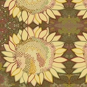 Dot Swarm Flower: Curlicued