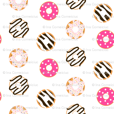 Donut glazed seamless pattern