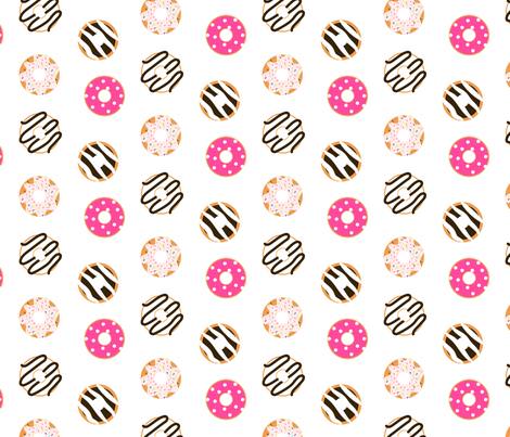 Donut glazed seamless pattern fabric by yopixart on Spoonflower - custom fabric