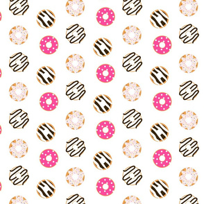 Donut glazed seamless pattern