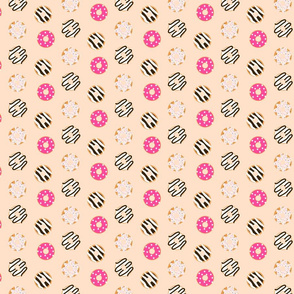 Donut pink glazed seamless chocolate pattern.