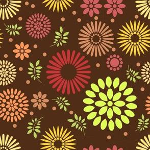 Retro Botanical // Brown