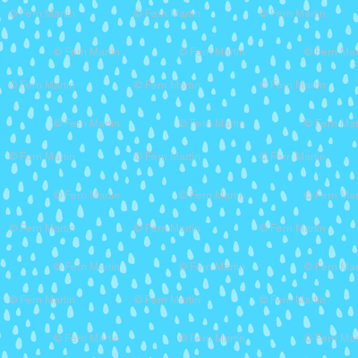 Paint Drops on Sky Blue