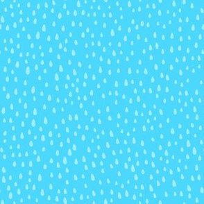 Paint Drops on Sky Blue