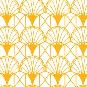 Art deco geometric leaves
