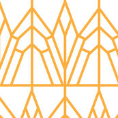 Art deco geometric lines