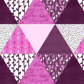 Triangle Quilt in Purple