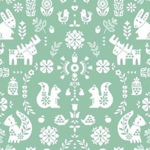 folksy creatures - green