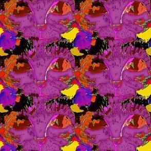 CATS EYES POP ART FUCHSIA BURGUNDY CHECKERBOARD