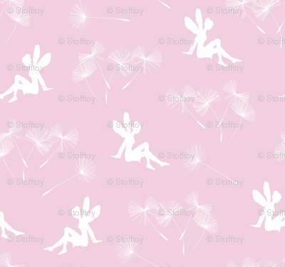 dandelion seeds and fairy - pink