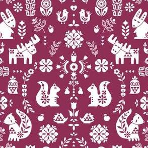 folksy creatures - Burgundy