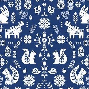 folksy creatures - indigo