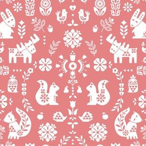 folksy creatures - soft pink