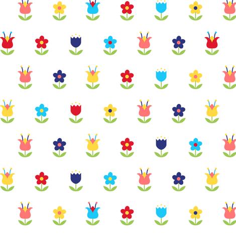Folk Art Flowers - Colorway 1 fabric by robinskarbek on Spoonflower - custom fabric