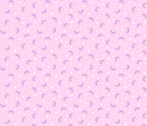Pink Rainbows fabric by thewellingtonboot on Spoonflower - custom fabric