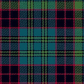 "Stewart old tartan, 10"", muted colors"