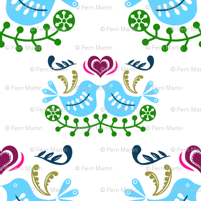 Blue Bird Folk Art