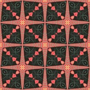 Folk Art Quilt Tile