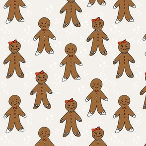 gingerbread cookies christmas fabric holiday foods cute neutral