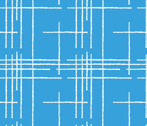 Blue Crosshatch fabric by mariettag on Spoonflower - custom fabric