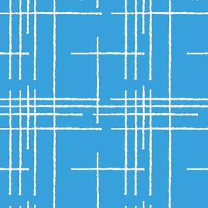 Blue Crosshatch
