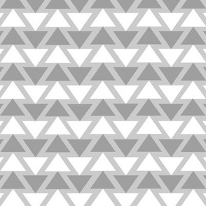 Grey & White Triangle Lines