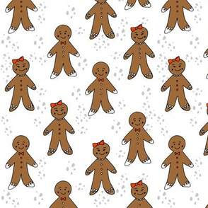 gingerbread cookies christmas fabric holiday foods cute white