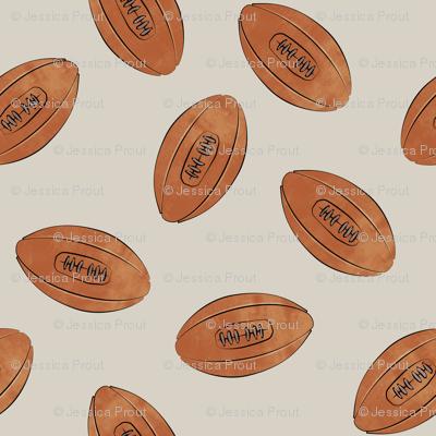 vintage football on beige