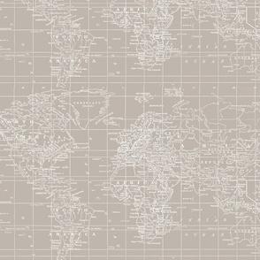 Beige World MAp