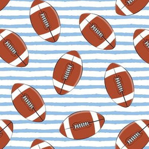 college football (blue stripes)