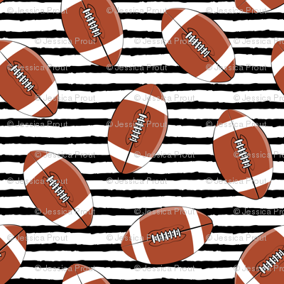 college football (black stripes)