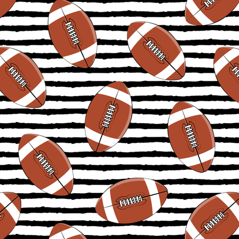 college football (black stripes) fabric by littlearrowdesign on Spoonflower - custom fabric
