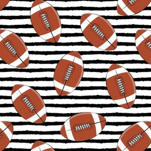 college football (black stripes)