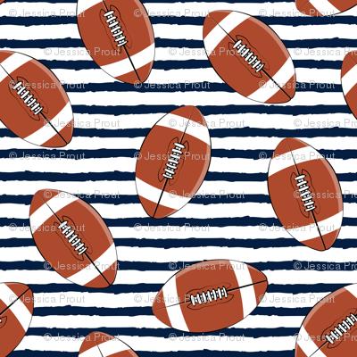 college football (navy stripes)