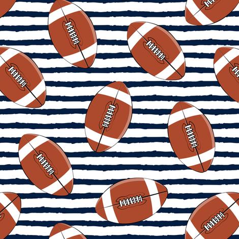 college football (navy stripes) fabric by littlearrowdesign on Spoonflower - custom fabric