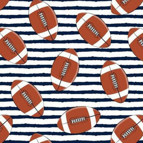 college football (navy stripes)