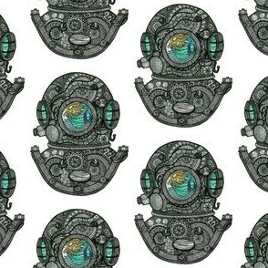 Diver Helmet with Mermaid