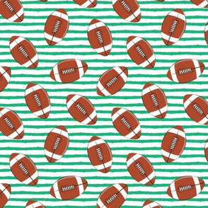 (small scale) college football - green stripes