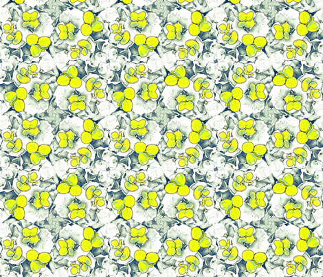 Yellow and Sage Garden Party fabric by twigsandblossoms on Spoonflower - custom fabric