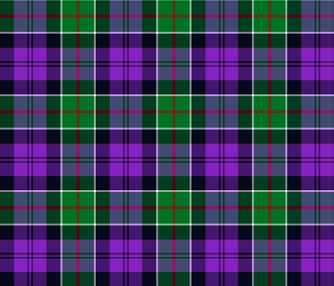 "Colquhoun tartan variant, 6"" modern green/purple fabric by weavingmajor on Spoonflower - custom fabric"