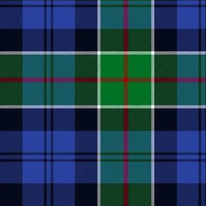 "Colquhoun tartan variant, 6"" modern green/blue"