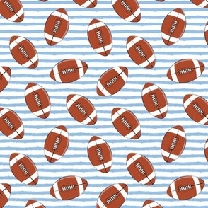 (small scale) college football (blue stripes)